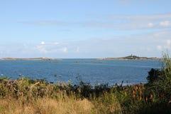 对视图的根西岛lihou 图库摄影
