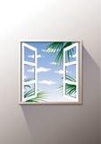 对视窗开张外面 库存例证