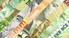 对角四主要世界的货币 免版税库存图片