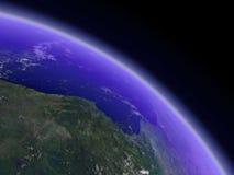 对角地球展望期 免版税图库摄影