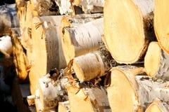 对角堆木头 库存照片