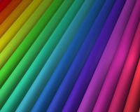 对角彩虹 免版税库存图片