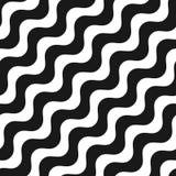 对角波浪线无缝的样式 皇族释放例证