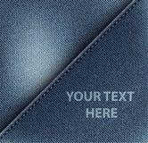 对角牛仔裤设计 库存图片