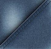 对角牛仔裤设计 免版税库存照片