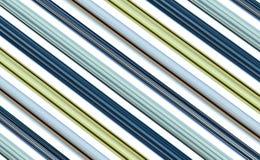 对角线排行蓝色天蓝色的绿色白色发光的平行 免版税库存图片