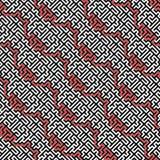 对角迷宫传染媒介无缝的样式 免版税库存图片