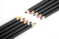 对角铅笔在对面 免版税库存照片