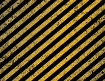 对角黑和黄色条纹 库存照片