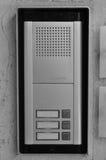 对讲机门铃按钮 图库摄影