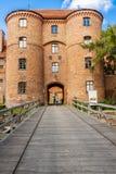 对设防的项在Frombork。 免版税库存照片