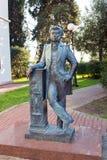 对诗人亚历山大・谢尔盖耶维奇・普希金的纪念碑在索契 俄国 免版税图库摄影