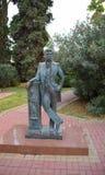 对诗人亚历山大・谢尔盖耶维奇・普希金的纪念碑,在索契 库存照片