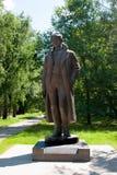 对诗人谢尔盖Esenin, Konstantinovo的纪念碑 库存图片
