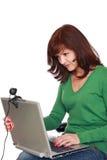 对话互联网 免版税图库摄影