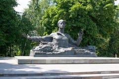 对谢尔盖・亚历山德罗维奇・叶赛宁的纪念碑 库存图片