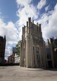 对谢菲尔德大教堂教会的现代入口 库存照片