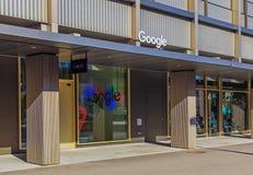 对谷歌公司办公室的入口在苏黎世, Switzerl 免版税库存照片