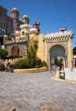 对贝纳宫殿的大门 辛特拉 葡萄牙 免版税库存照片