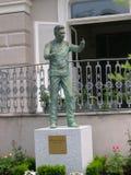 对赫伯特・冯Karajan的雕象在萨尔茨堡奥地利 库存照片