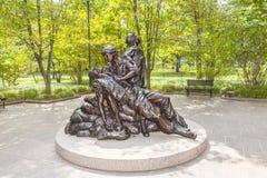 对越南战争的纪念雕象 免版税库存照片