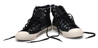 对运动鞋称呼了葡萄酒 免版税库存照片