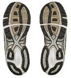 对运动鞋脚底培训人 库存图片