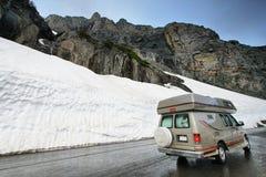去对这在冰川的太阳路 免版税库存照片