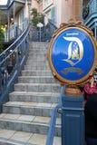 对迪斯尼乐园梦想随员的豪华楼梯在阿纳海姆,加利福尼亚 免版税图库摄影