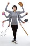 对选择的许多体育从 免版税库存图片
