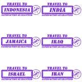 对邮票的旅行 免版税图库摄影