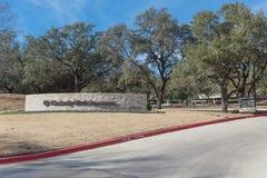 对金佰利在欧文, Tex的世界总部的入口 图库摄影