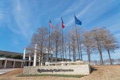 对金佰利在欧文, Tex的世界总部的入口 免版税库存照片