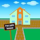对销售房子 免版税库存图片