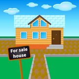 对销售房子 免版税库存照片