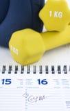 对锻炼的计划棍子 免版税库存照片