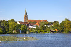 对镇勃兰登堡的看法 库存照片