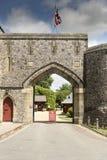 对阿伦德尔城堡阿伦德尔西萨塞克斯郡的门户 库存照片