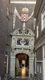 对阿姆斯特丹博物馆,荷兰的入口 图库摄影