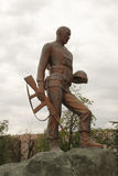 对阿富汗人的战士的纪念碑 库存图片