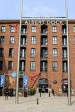 对阿尔伯特船坞,利物浦, Merseyside的入口。 免版税库存图片
