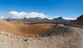 对阿尔塔维斯塔避难所的小径泰德峰火山的 Parque Nacion 免版税图库摄影