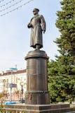 对陆军五星上将Apanasenko的纪念碑 别尔哥罗德州 俄国 免版税库存图片