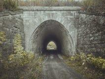 对隧道的入口 桥梁 免版税库存照片