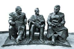 对雅尔塔会议的纪念碑 库存图片