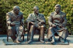 对雅尔塔会议的纪念碑 免版税图库摄影