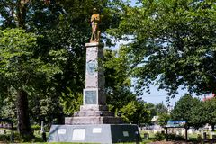 对非裔美国人的联合士兵的纪念碑在诺福克,弗吉尼亚 免版税库存图片