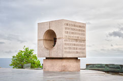 对革命的水手的纪念碑 库存照片