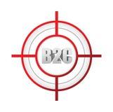 对顾客目标标志概念的大笔生意 免版税库存照片