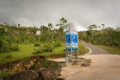 对飓风玛丽亚的残骸 免版税库存图片